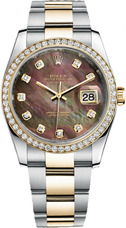 Rolex Datejust 36 mm Steel and Yellow Gold 116243-0001