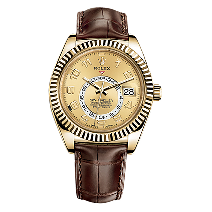 Rolex Sky-Dweller 42mm Yellow Gold