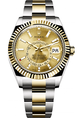 Rolex Sky-Dweller 42 mm Steel and Yellow Gold 326933-0009