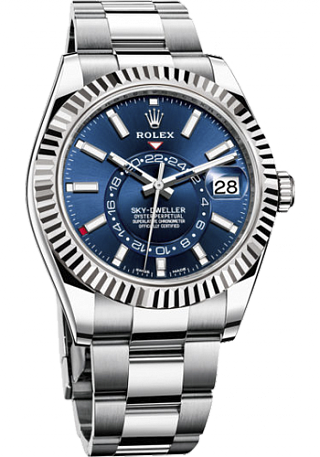 Rolex Sky-Dweller 42 mm Steel and White Gold