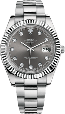 Rolex Datejust II 41 mm Steel and White Gold 116334-0009